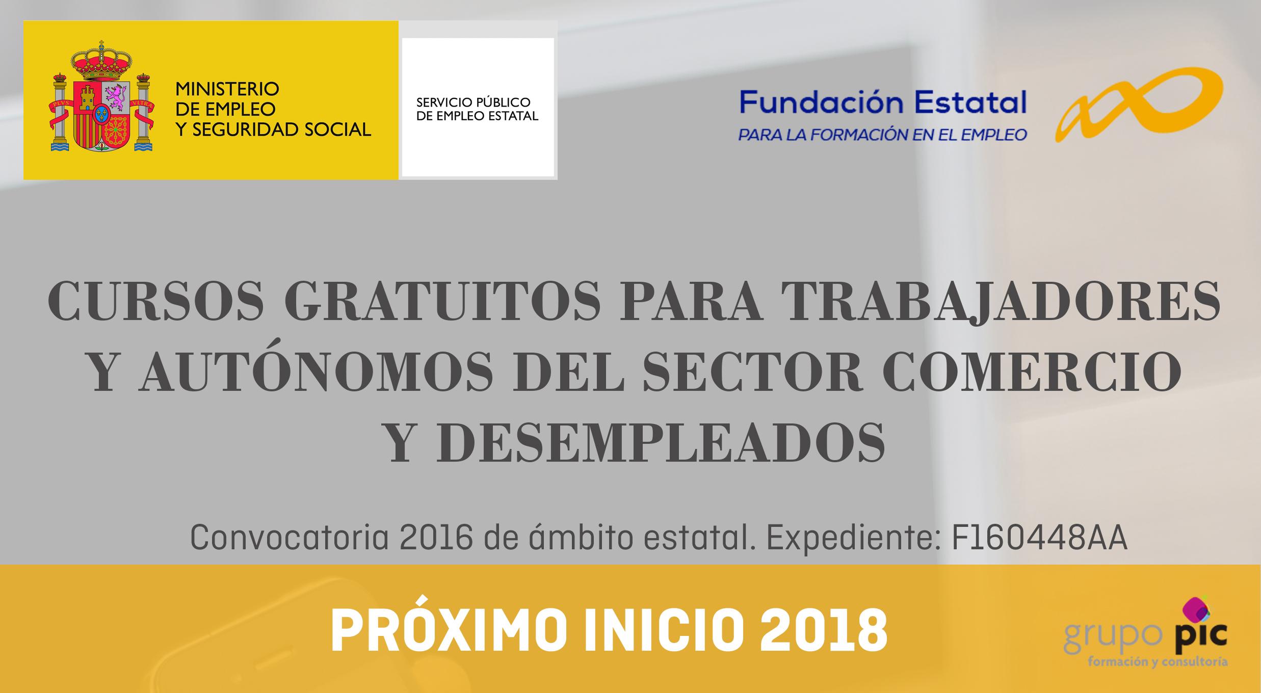 GRUPOPIC CURSOS GRATUITOS 2018 Sector Comercio